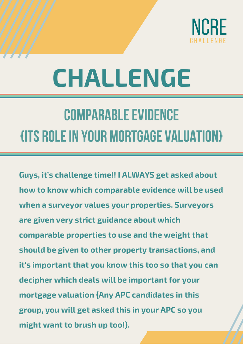 comparable evidence, mortgage value, challenge