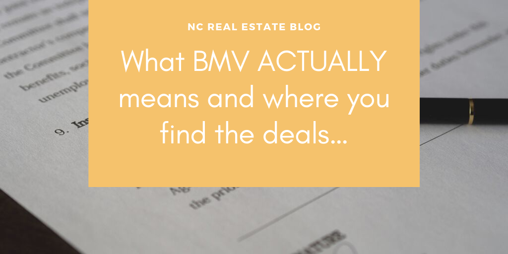 What BMV ACTUALLY means and where you find the deals…